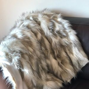 Faux Fur Lap Throw